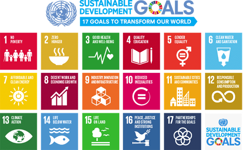 United Nations Sustainable Development Goals - Leadership, Service, Development
